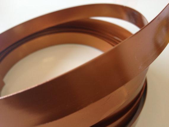 Wedding - wide copper flat wire wire (1/2 inch wide x 15 feet long)