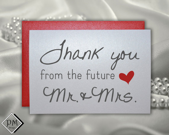 Wedding - Thank you from the future mrs wedding card thank you sets from the future mr and mrs wedding cards from bride and groom for engagement party