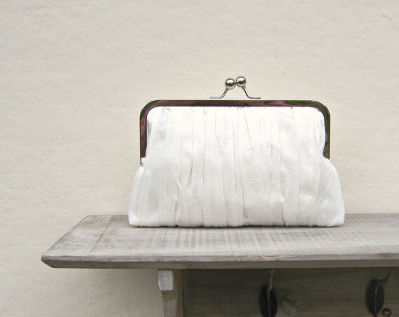 Ivory Clutch Ivory Bridal Clutch Bag Ivory Wedding Clutch Pleated Clutch Bridesmaid Clutch ...