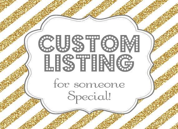 Mariage - Custom Listing for Debbie