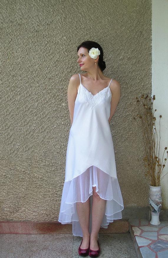 Wedding - Vintage Fishtail Nightgown size L-XL