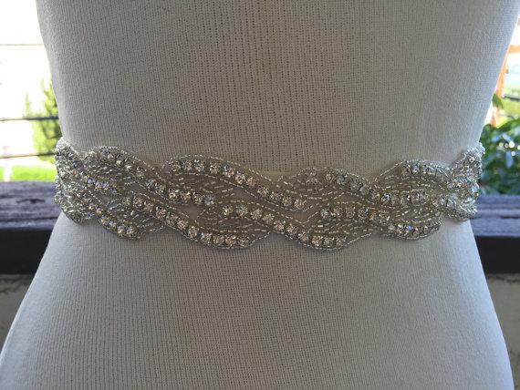 Свадьба - Bridal Sash,Wedding Belt, Bridal Belt, Sash Belt, Crystal Rhinestone