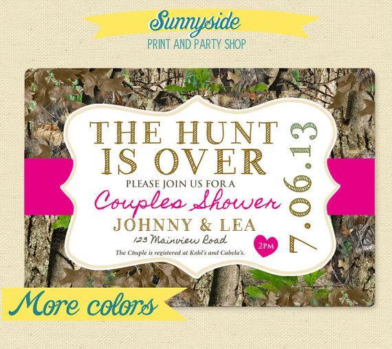 زفاف - The Hunt is Over - Couples Wedding Shower Invitation