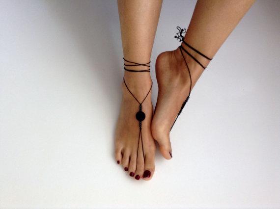 Mariage - Barefoot Sandals, wedding , Bikini , Women , Beach , Bridal Sandals , Bridal Jewelry ,shoes