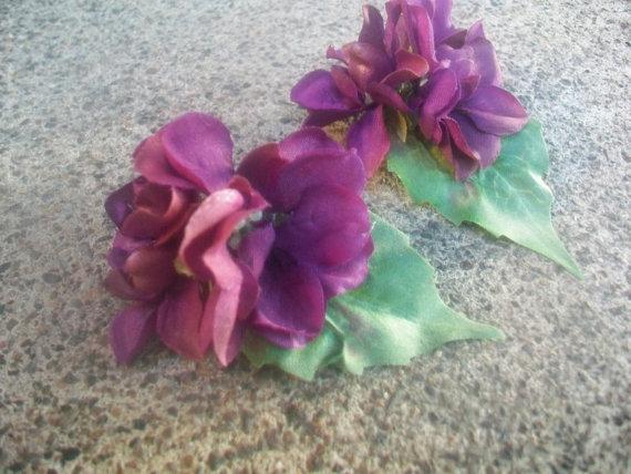 Mariage - Purple Bridal Shoe Clips- Flower Shoe Clips for Bride, Bridesmaids, Girls, Party- Purple Flower Shoe Clip- Purple Shoe Clips Wedding- Sale