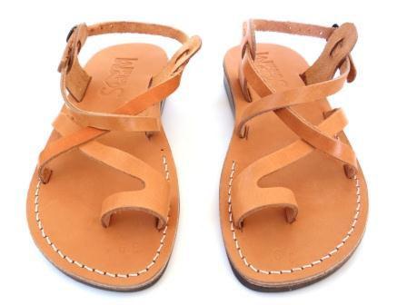 Mariage - SALE ! New Leather Sandals JERUSALEM Women's Shoes Thongs Flip Flops Flats Slides Slippers Biblical Bridal Wedding Colored Footwear Designer