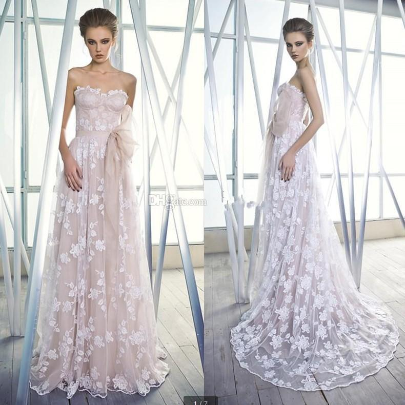 Color 2015 A Line Wedding Dresses With Sash Sweetheart