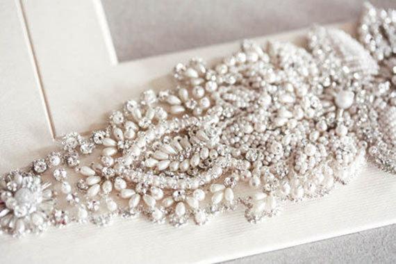 زفاف - Pearls Bridal Sash -  Pearls  (Made to Order)