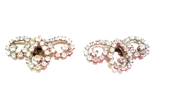 Mariage - Vintage Rhinestone Shoe Clips Dress Clips Misc clips Jewelry