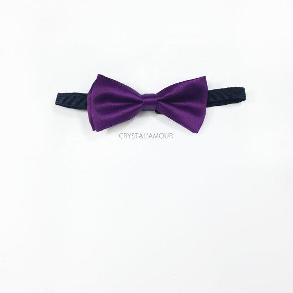 Mariage - toddlers purple bowtie, boy's bowtie, baby boy bowtie, royal purple toddler bowtie - for baby boy's parties, flower boys, birthday party