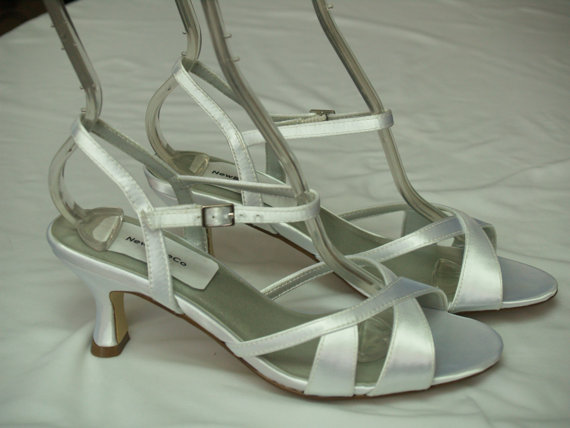 Düğün - Size 7 Wedding White shoes satin Sample