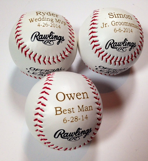 Baseball Wedding Gifts: 3 Rawlings Baseballs