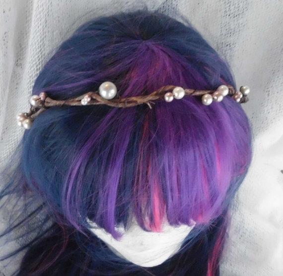 Mariage - Bridal Headbpiece, Pearl Crown, Circlet, Bridal Hair Accessory, Pearl Crown, Wedding, Bridal, Headband, Circlet, Bohemian, head wreath