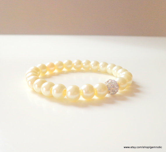 زفاف - Baby child infant jewelry, Childrens pearl bracelet, flower girl bracelet, flower girl jewelry,