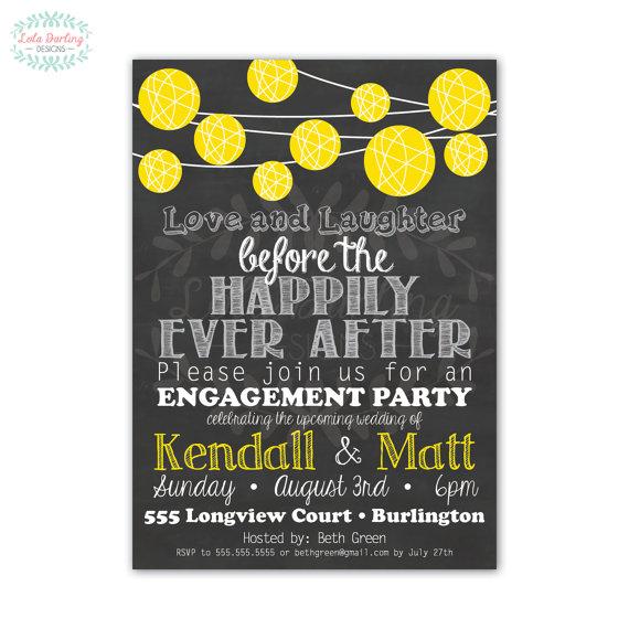 Hochzeit - Paper Lantern Engagement Party Invitation