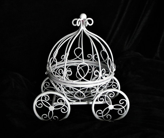 Princess Cinderella Carriage Centerpiece Fairy Tail Use As Decoration Wish Holder To Match Brooch Bouquets