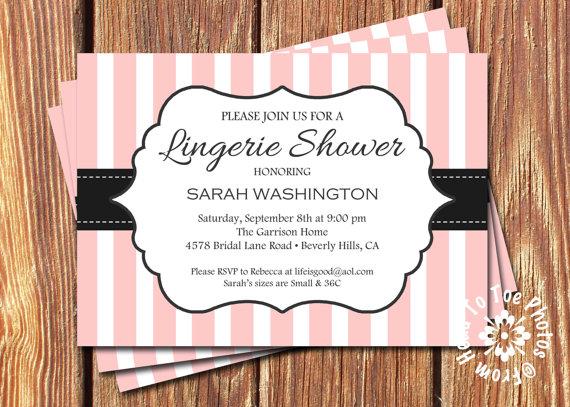 زفاف - Lingerie Shower Invitations •Pick your Color