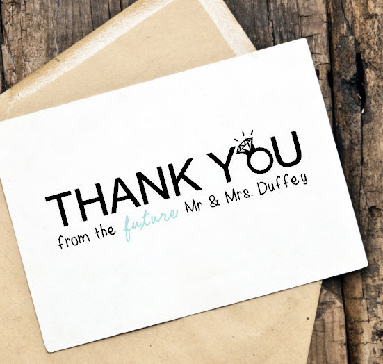 printable diy thank you card for weddings engagement party bridal shower - Engagement Thank You Cards