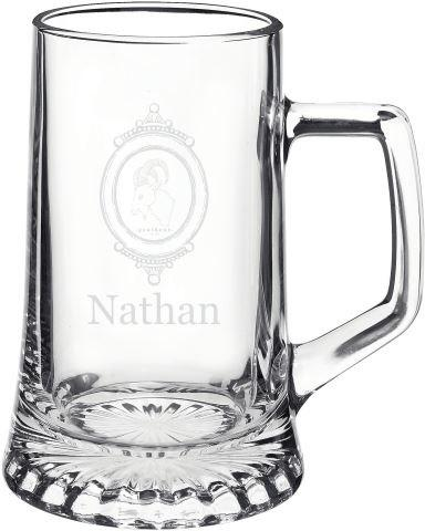 Свадьба - Personalized 15oz Glass Beer Mug Groomsmen Gift - Father's Day Gift - Wedding Gift - Creative Birthday Gift for Beer Aficionados
