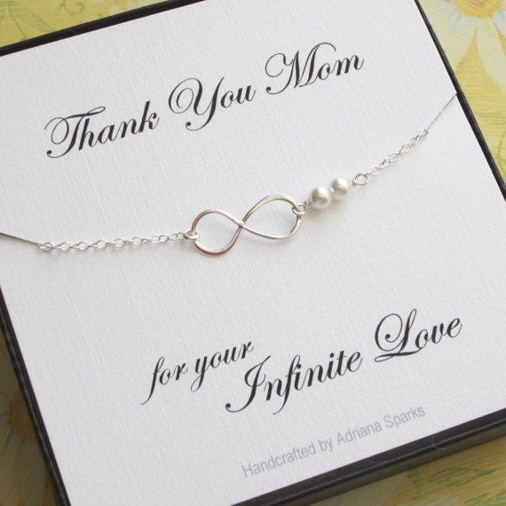 Mother Of The Bride Or Groom Infinity Bracelet Mothers