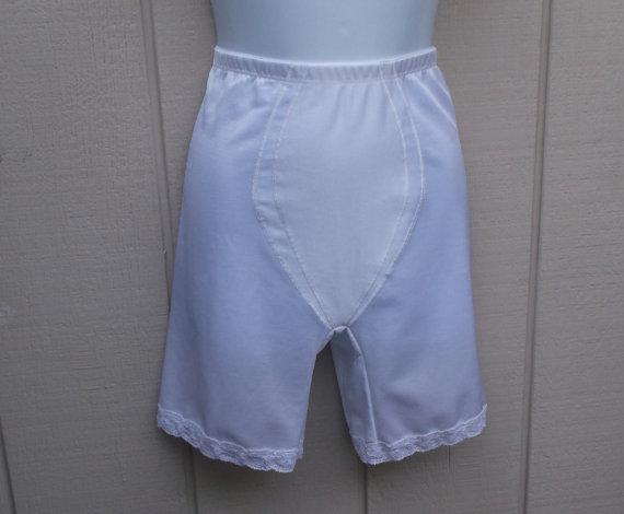 Mariage - Vintage Illusions White High Waisted Panty Girdle / Foundation Garment // Size Large - 32 waist