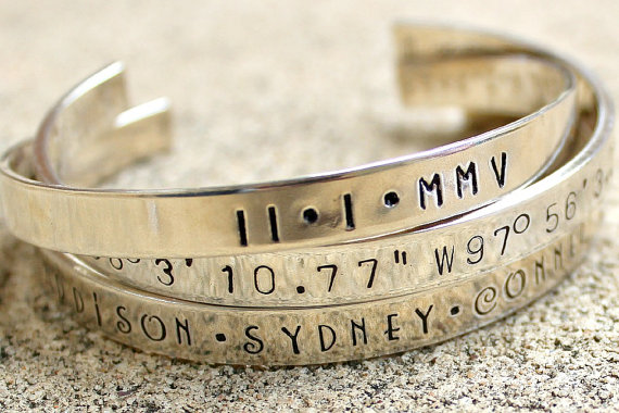 Sterling Silver - Personalized Bracelet - Engraved Bracelet -mother ...