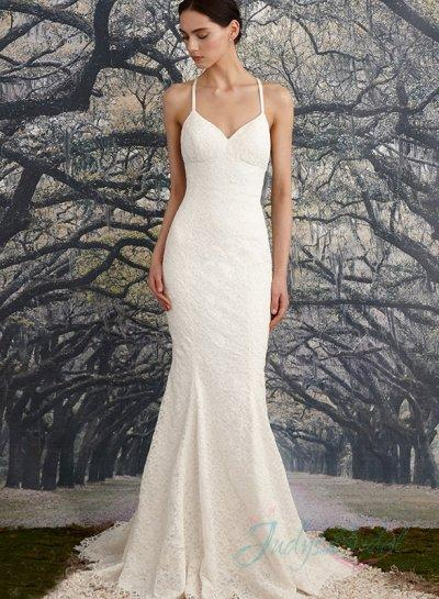 Backless Thin Strap Wedding Dresses