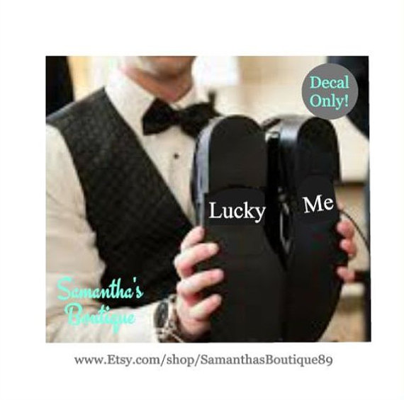 Mariage - Lucky Me Mens Wedding Shoe Decals