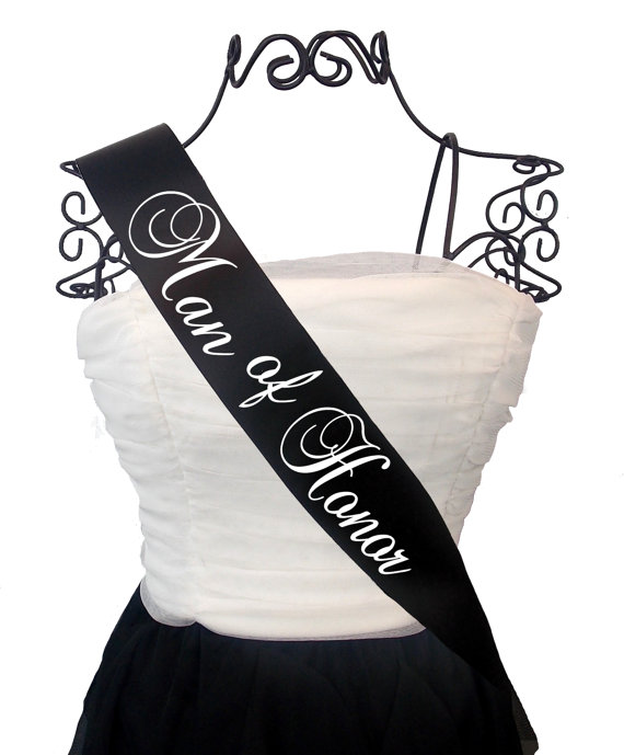 زفاف - Man of Honor Bridal Party Sash