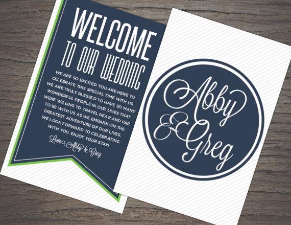 Свадьба - Welcome Bag Tag Design: Printable