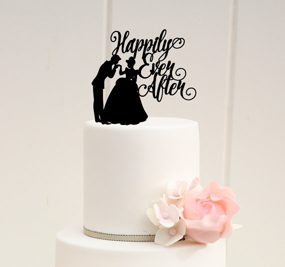 Superb Happily Ever After Wedding Cake Topper With Cinderella And Prince Charming    Custom Cake Topper Amazing Ideas