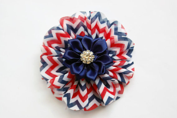 Dog Collar Flowers Patriotic Memorial Day 4th Of July Fourth Of