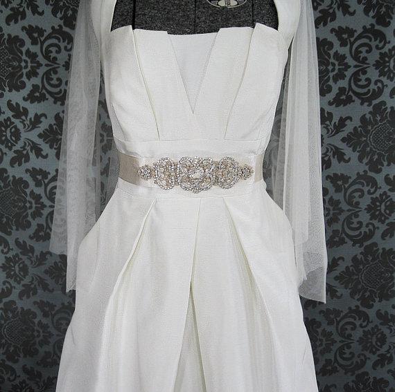 Mariage - Sparkle Rhinestone and Pearl bridal sash