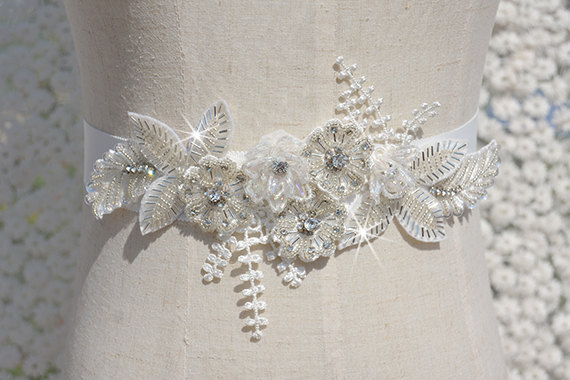 Wedding - bridal sash, rhinestone sash, bridal belt, wedding sash, wedding belt, crystal bridal sash
