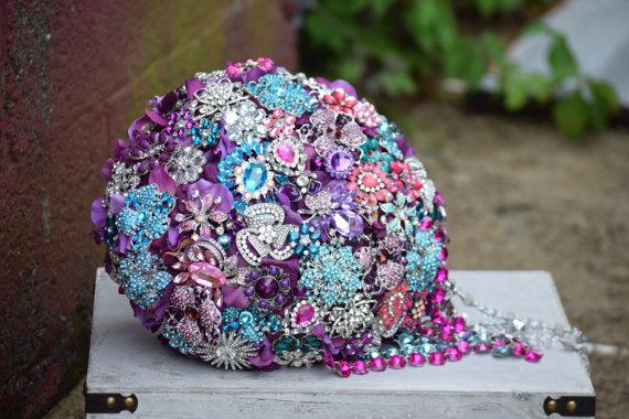 Mariage - Custom Order Cascading Brooch Bouquets