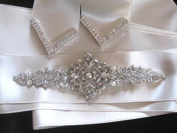 Свадьба - Wedding Sashes Bridal Belt Beaded Jeweled Crystal Sash Belt