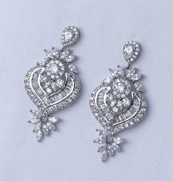 Crystal Chandelier Earrings Bridal Clip On Or Post Earring Option Jewelry Taylor