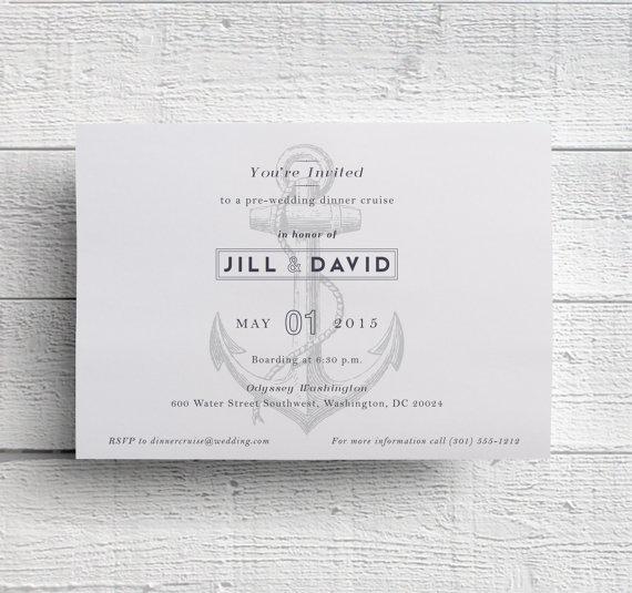 Hochzeit - Printable Cruise Invitation