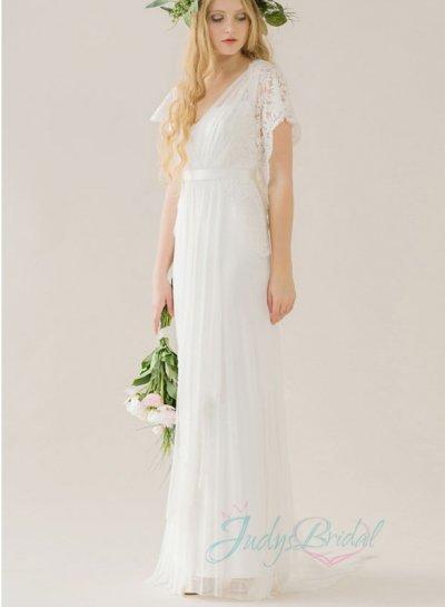 Hochzeit - fairy light ariy open back boho tulle beach wedding dresses