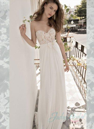 Jol269 Romance Light Airy Simple Sweetheart Beach Summer Wedding Dress