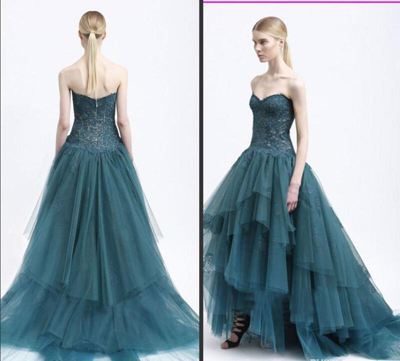 Monique Lhuillier 2015 Evening Dresses Ball Gown Sweetheart Lace ...