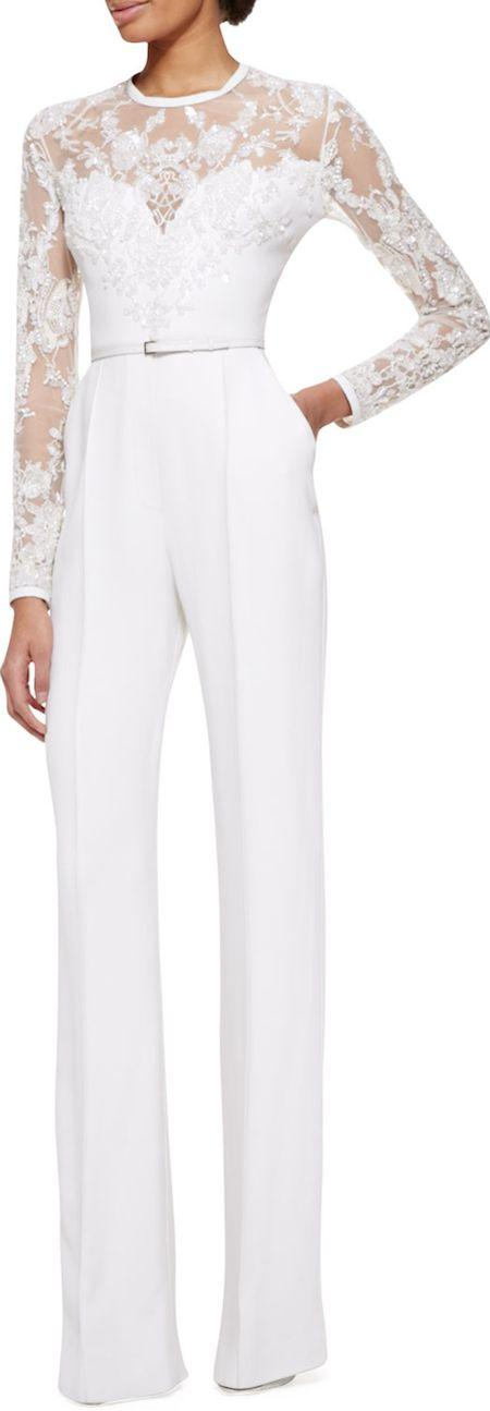 Hochzeit - 17 Impossibly Pretty Solange-Inspired Bridal Jumpsuits