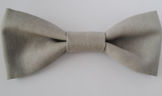 Mariage - Grey Dog Bow Tie