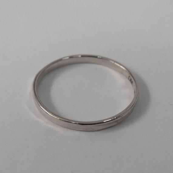 زفاف - Simple Gold Wedding Band - 14k White Gold Ring , White Gold Wedding Ring , White Gold Wedding Band, men's wedding band, mens ring