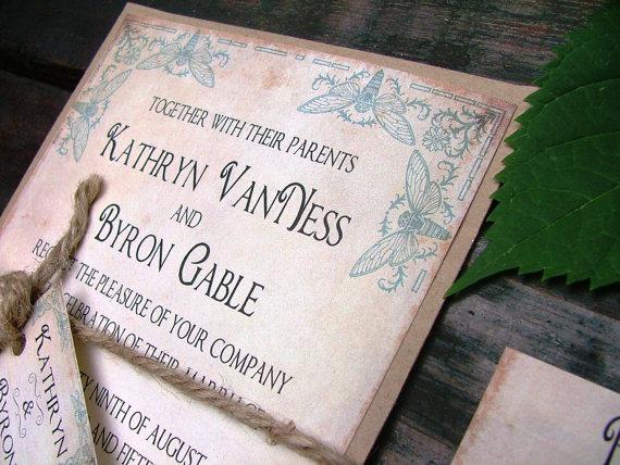Hochzeit - Wedding Invitations: The Bees Knees, blue, vintage wedding invitations