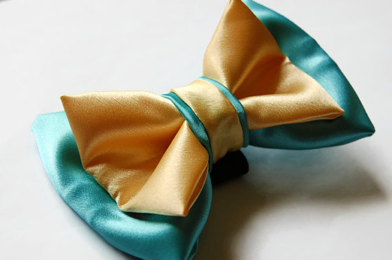 Свадьба - Dog Bow Ties, Bow ties for dogs, Turquoise and yellow, Dog Bowties, Fancy dog bow tie,  Dog collar, Wedding Dog, Wedding Dog Collar,