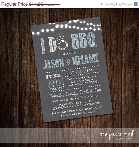 Mariage - I Do BBQ, Couples Shower, Wedding Shower, Chalkboard, Bridal Shower, Chalkboard Invitation, Engagement, Printable, Digital