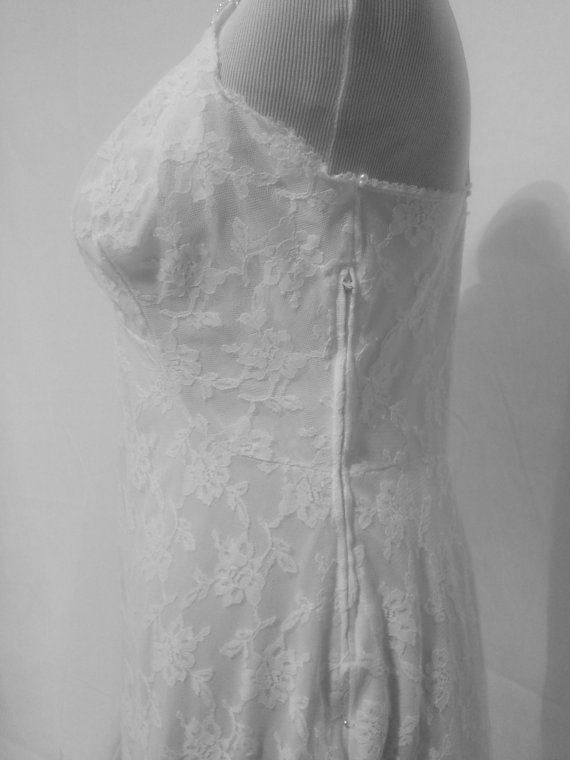 Свадьба - 1950's White Lace Full Slip With Side Zipper by ~Gossard~