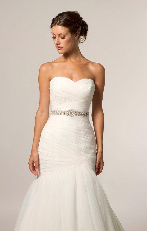 زفاف - Bridal Sash, Rhinestone applique, Rhinestone belt, Bridal belt, Rhinestone Trim, Wedding Belt, Wedding Belts and Sashes