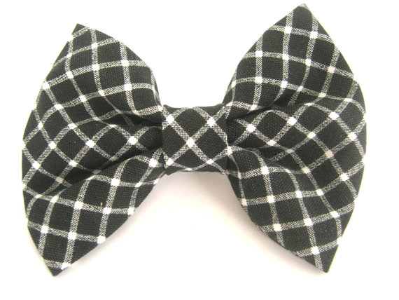 Свадьба - Dog bow tie Black and white dog bow tie Collar bow tie Bow tie for dog Wedding dog bow Pet bow tie